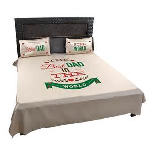 world best dad bed sheet with pillow covers for father by