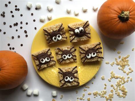 halloween treats easy halloween treats spider rice krispie treats