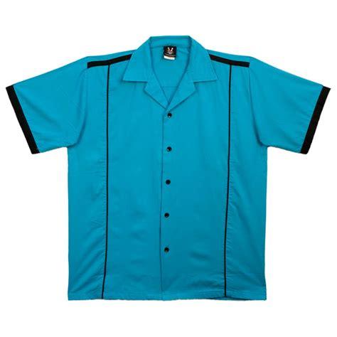pattern bowling shirt bowlingshirt com kpin hilton kingpin turquoise black