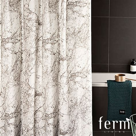 Marble Shower Curtain by Marble Shower Curtain Ferm Living Metropolitandecor