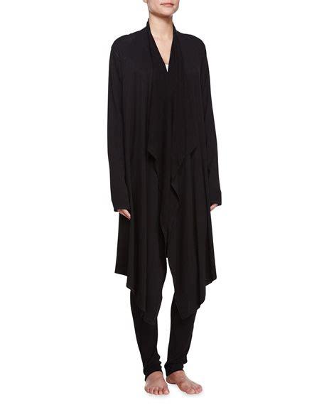 draped black cardigan donna karan draped lounge cardigan black