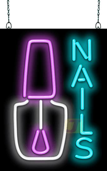 nails  nail polish neon sign hn   jantec neon