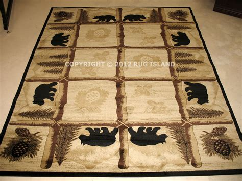 Cabin Area Rugs Lodge Cabin Rustic Pine Brown Green Black Area Rug Free Shipping Ebay