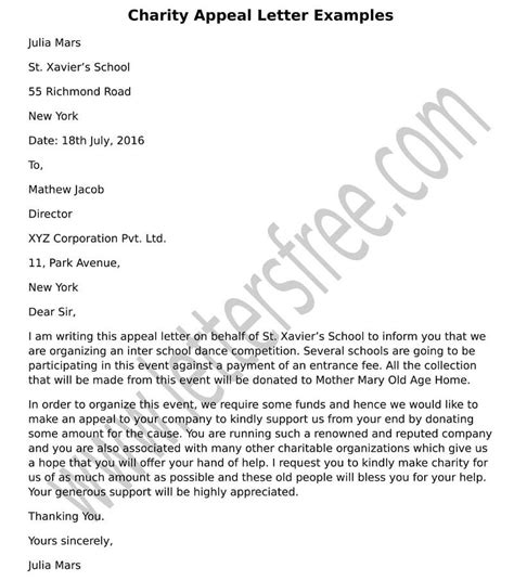 writing charity appeal letter tips for writing effective charity donation letter