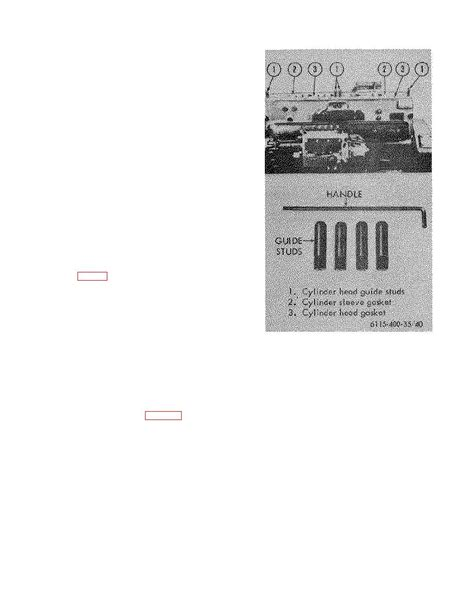 Figure 40 Cylinder Head Guide Studs