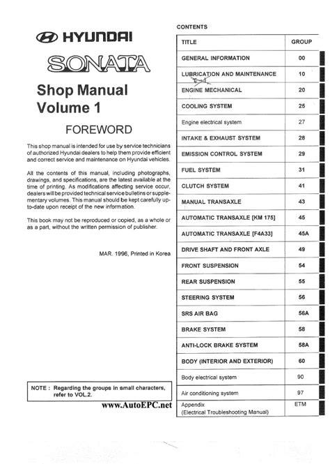 how to download repair manuals 1996 hyundai sonata regenerative braking hyundai sonata 1997 repair manual order download