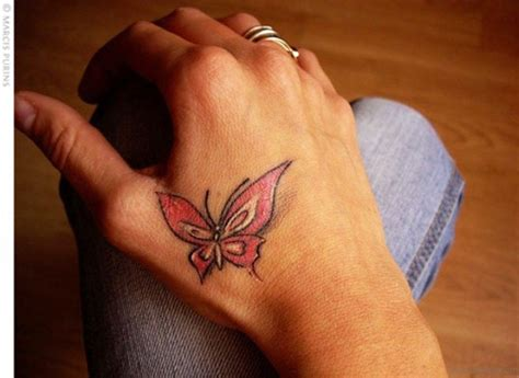 hand tattoos small small butterfly tattoos on www pixshark
