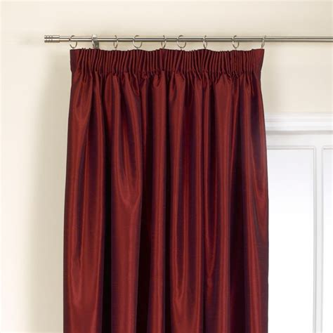 red pleated curtains bandq curtains and blinds