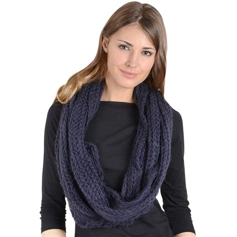 knit snood scarf celso knit navy snood loop scarf neck warmer