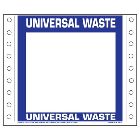 universal waste label