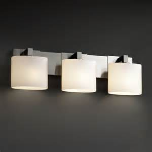 bathroom vanity lighting fixtures justice design fusion modular 3 light bath vanity