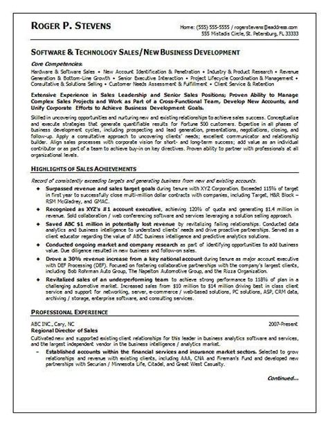 Software Resume Sles Experienced Professionals 17 Best Ideas About Sales Resume On Marketing Resume Cover Letter Design And Resume