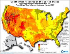 resource map of america u s has large geothermal resources but recent growth is