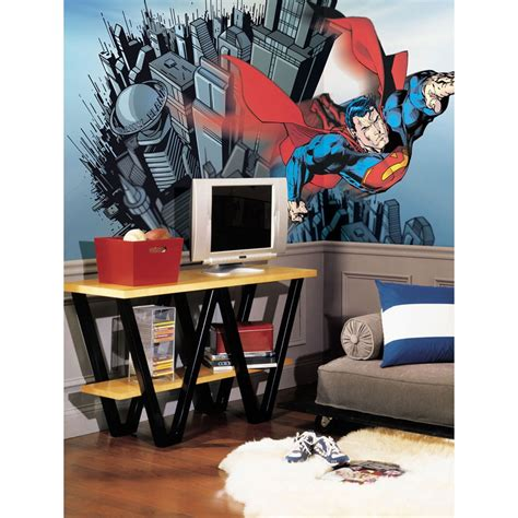 superman wall mural dc comic superman wall mural dooms day wallpaper accent decor