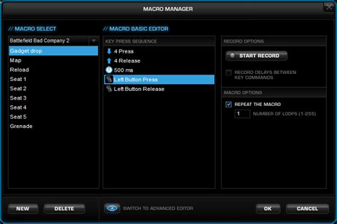 Mouse Dan Keyboard Macro mouse button press in roccat macro manager arqade