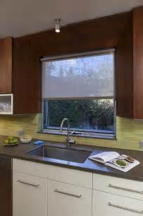 Kitchen Window Blinds Kitchen Window Coverings Modern Roller Shades San