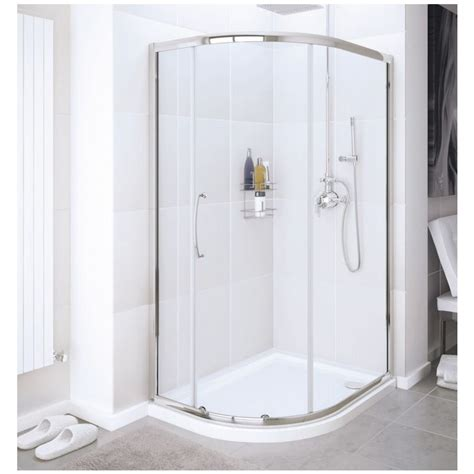 Lakes Single Door Offset Quadrant Enclosure 1000 X 800mm Lakes Shower Doors