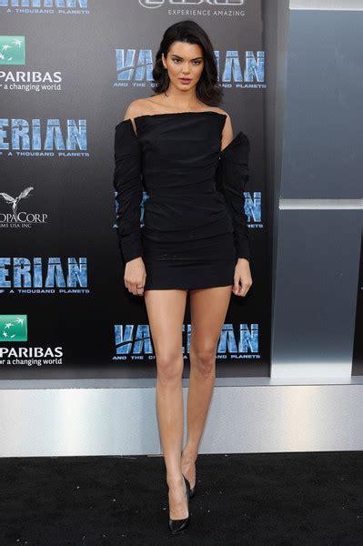 Kendall Jenner Off the Shoulder Dress   Kendall Jenner