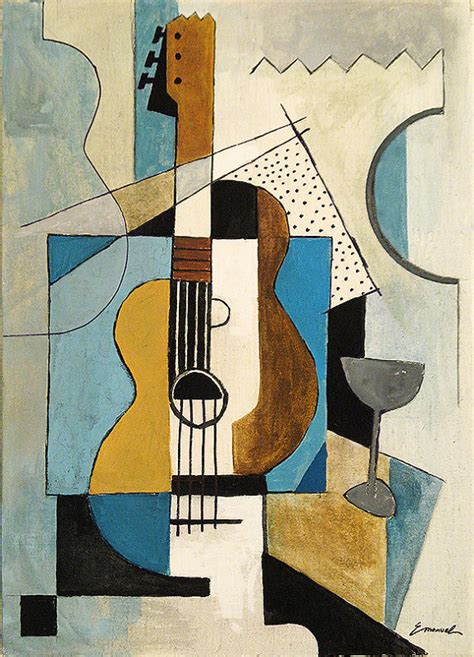pablo picasso paintings guitar print reproduction best gift cubist painting acrylic