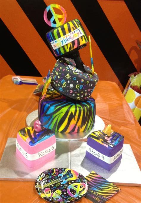 neon doodle cake ideas topsy turvy neon doodle cake cake ideas