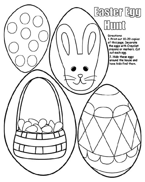 Easter Egg Coloring Pages Crayola easter egg hunt crayola ca