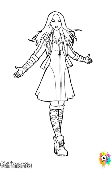 coloring pages scarlet witch scarlet witch coloring page