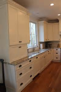 Brookhaven Kitchen Cabinets Cabinets Brookhaven In Antique White For Perimeter And Matte Brown With Black Glaze For The