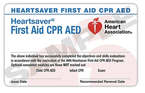 heartsaver aid cpr aed card template aid cpr aed 11 18 17 cpr kitsap