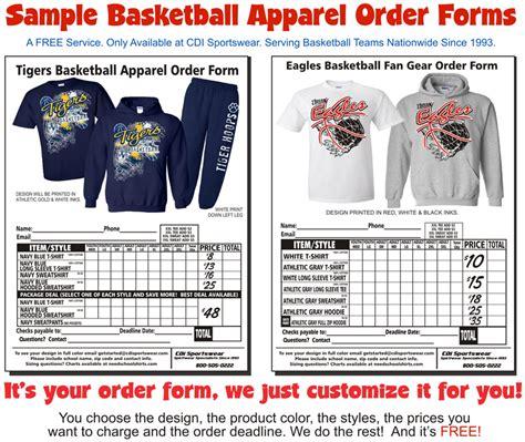 Clothing Order Form Templates Hunecompany Com Custom Clothing Order Form Template