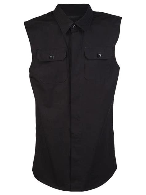 Black Sleeveless Shirt odyn vovk sleeveless shirt in black for lyst