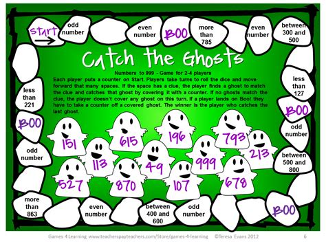 printable board games for math fun games 4 learning halloween math freebies