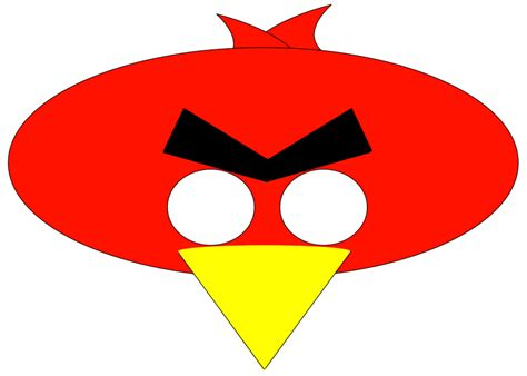 Angry Bird Mask Template printable masks