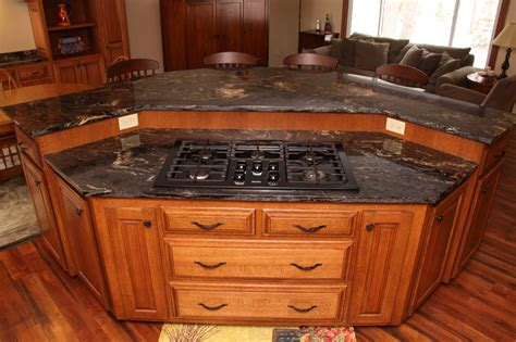kitchen island with stove top custom cabinets elk river mn custom kitchen cabinets