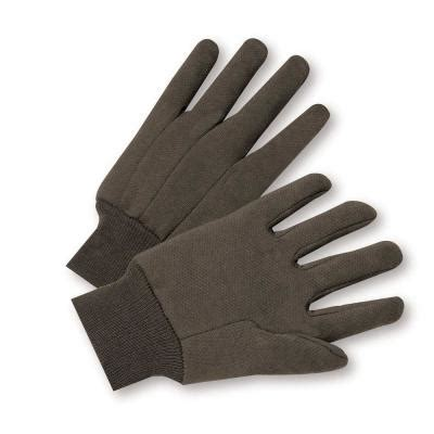 west chester cotton jersey large work gloves 6 pack