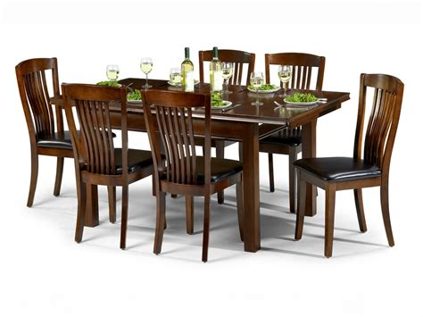 dining table sets 6 chairs julian bowen canterbury 120cm mahogany dining table and 6