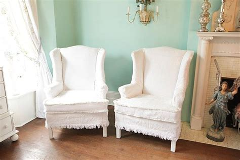 shabby chic chair slipcovers shabby chic wingback chair s vintage bedspread slipcover