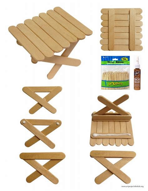 mini craft projects mini craft stick picnic table projects for