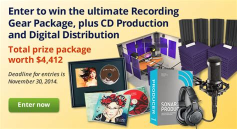 Frisbee Giveaways - win the ultimate recording gear package