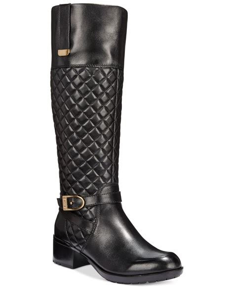 bandolino boots bandolino blushe quilted wide calf boots in black