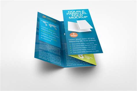 double parallel fold brochure mock up by idesignstudio net