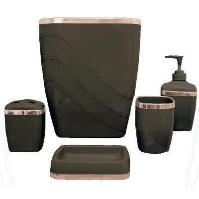 plastic bathroom set carnation home fashions 5 piece plastic bath accessory set fixtures and beyond