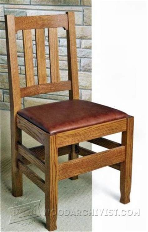 dining room chair plans oak dining chair plans woodarchivist