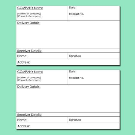 free delivery receipt template excel 8 delivery receipt templates for word excel and pdf
