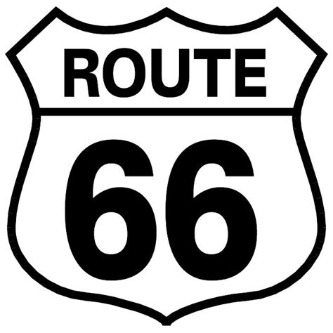 Route 66 Also Search For Route 66 Vector Sign At Vectorportal