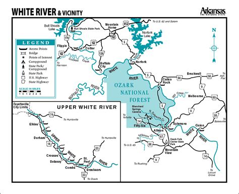 arkansas trout fishing maps pictures white river map