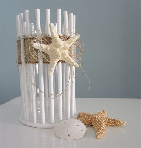 beach decor beach decor candle holder or vase lg nautical decor