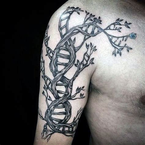 dna tree tattoo 60 dna designs for self replicating genetic ink