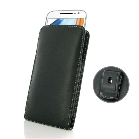 leather clip pouch motorola moto g4 pouch with belt clip pdair sleeve holster