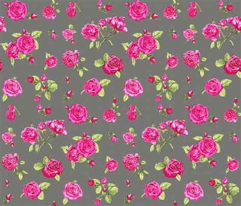 shabby chic roses grey fabric katarina spoonflower