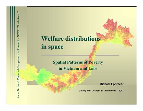 spatial pattern of activities spatial patterns of poverty in vietnam and laos